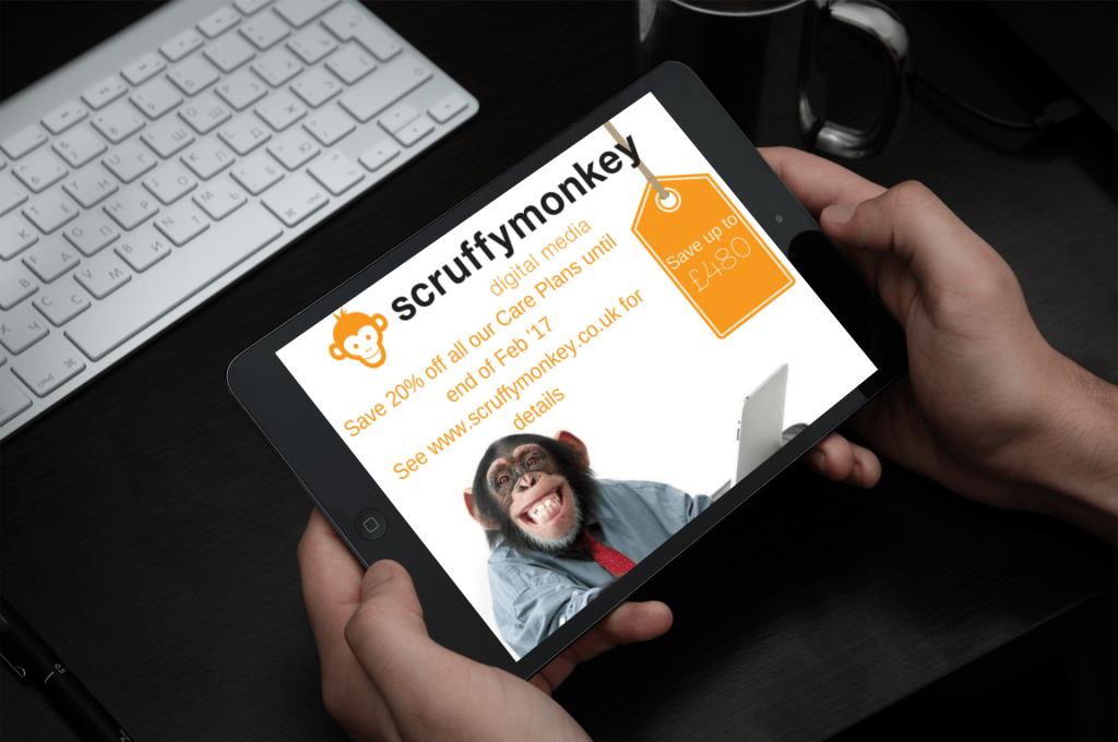 Scruffymonkey Web Design Bolton February Offer