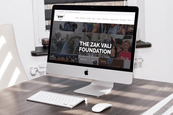 Scruffymonkey Web Design Bolton Zak Vali Foundation Mockup