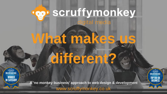 Scruffymonkey Web Design Bolton - What makes us different?