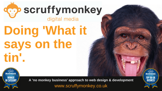 Doing what it says on the tin - Scruffymonkey Web Design Bolton